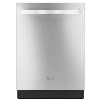 Whirlpool Gold Series Top Control Dishwasher in Monochromatic Stainless Steel with Stainless Steel Tub-WDT920SADM at The Home Depot
