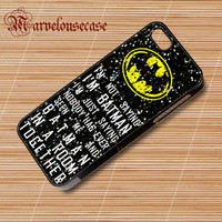 Batman quotes im not batman sparkly glitter custom case for all phone case