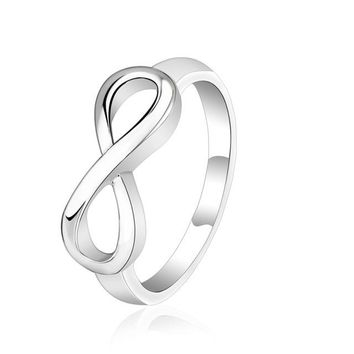 Stylish Luxury Metal Simple 8 Word Shape Rings Women silver plated Accessories Mens Rings