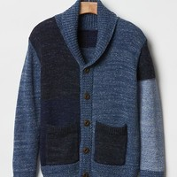 Gap Boys Patchwork Shawl Cardigan