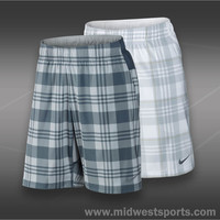 nike mens tennis short, Nike Gladiator 10 Inch Plaid Short Ho13_546503, Midwest