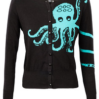Octopus Cardigan - Black,