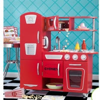 KidKraft Personalized Red Vintage Play Kitchen Set