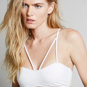 White Strappy Back Bra Top