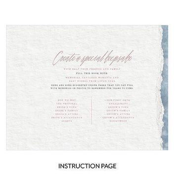 Clear Acrylic Wedding Guest Book - Modern Fairy Tale Etching (Pack of 1)