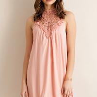 Martinis and Moonlight Dress - Peach