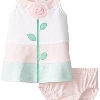 Hartstrings Baby-Girls Newborn Knit Ponte Dress with Coordinating Diaper Cover