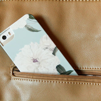 Floral Pattern iPhone 5 Case, Peony Flowers iPhone 5S, iPhone 5C Case, iPhone 4S Case, CaseGalaxy S3 / S4