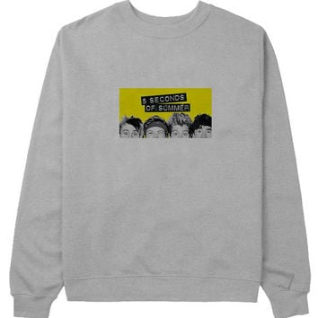 5 second of summer sweater Gray Sweatshirt Crewneck Men or Women for Unisex Size with variant colour