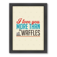 Americanflat Patricia Pino ''Love Waffles'' Framed Wall Art