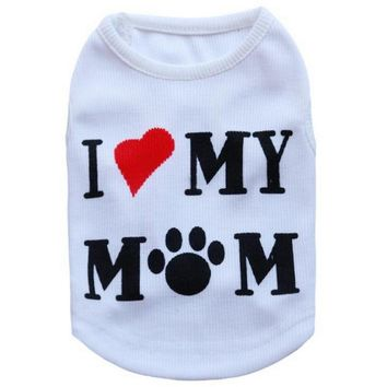 Casual Pet Dog Clothes Puppy Coats Small Dog Hoodies Letter T-shirts for Vest Soft Cat Pajamas New Arrival