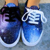 Galaxy Inspired Vans Sneakers Shoes