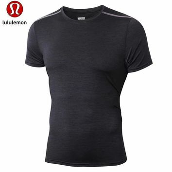 Lululemon Men S Casual Air Solid All Match Quick Dry Short Sleeved T Shirt-1