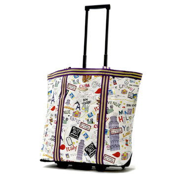 Olympia 'Cosmopolitan' Rolling Shopper Tote   Overstock.com Shopping - The Best Deals on Travel Tote Bags