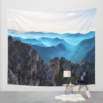 Mountains Breathe Too Wall Tapestry by Mixed Imagery