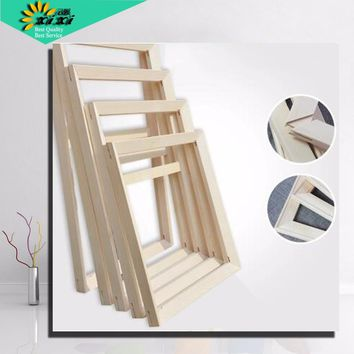 Suit for All kinds of diy oil painting stretcher Convex wood frame wall painting picture frame Photo door Picture D frames