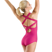 Wide Cross-Back Tank Leotard; Balera