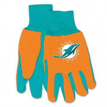 Miami Dolphins - Adult Two-Tone Sport Utility Gloves