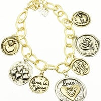 Love Is You Charm Bracelet