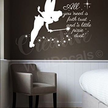 Shop Tinkerbell Wall Decals On Wanelo
