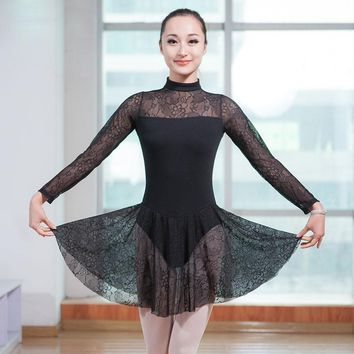 Cotton&Lace Ballet Leotard Dress Girls Adult Romantic Ballet Clothing Dance Wear Ballerina Dance Costumes