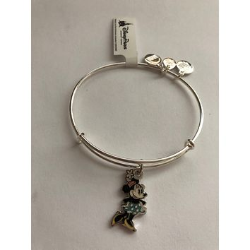 Disney Alex and Ani Minnie Silhouette Silver Finish New with Tags
