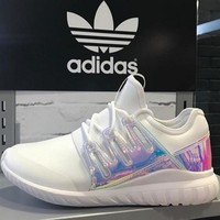 Adidas Women Fashion Multicolor Trending Running Sports Shoes white laser H