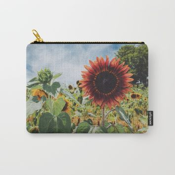 Red Sun (flower) Carry-All Pouch by Adrienne Page