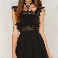 Around the Smock Lace Dress