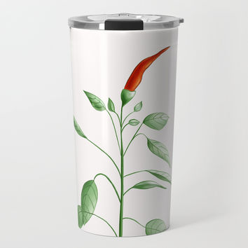 Little Hot Chili Pepper Plant Travel Mug by borianagiormova