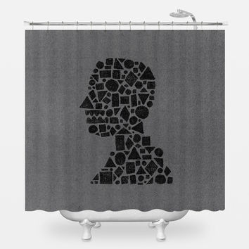Untitled Silhouette Shower Curtain