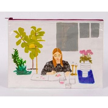 The Painter Jumbo Pouch With Girl Paint Artist