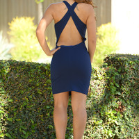Lennox Dress - Navy