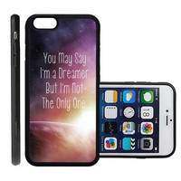 RCGrafix Brand Dreamer Quote Apple Iphone 6 Plus Protective Cell Phone Case Cover - Fits Apple Iphone 6 Plus