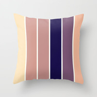 Subtle Stripes Throw Pillow by 2sweet4words Designs | Society6