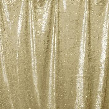 Soft Gold Sequin Printed Photo Background / 4609