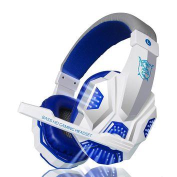 Hot sale Deep Bass Game Headphone Stereo Surrounded Over-Ear Gaming Headset Headband Earphone with Light for Computer PC Gamer
