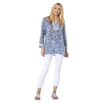 Long Sleeve Monkey Print Tunic Top by Sail to Sable