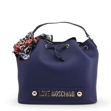 Love Moschino Blue Leather Handbag