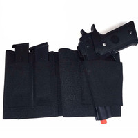 Concealed Belly Band Holster Under Cover Elastic Abdominal Band Pistol Holster with 2 Magazine Pouches Size M & L