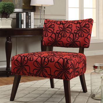 Able Accent Armless Chair, Red