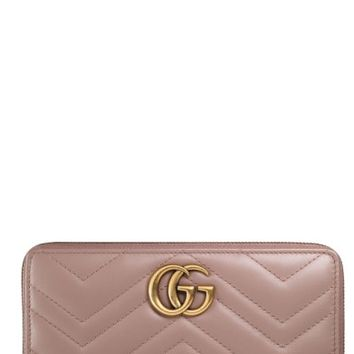 Gucci GG Marmont Matelassé Leather Zip-Around Wallet | Nordstrom