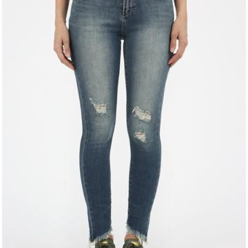 Articles of Society Sammy Diagonal Hem Jeans