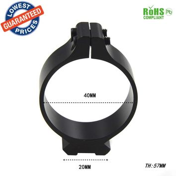 40mm Tactical Barrel Ring 20mm Scope bases Sighting Telescope Clamp Mount Hunting Gun Flashlight Torch Laser Sight Holder - 1pc