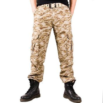 Summer Camouflage Cargo Pants Camo Tactical Trousers Mens Military Loose Cotton Combat Army City Casual Pants Soldier Clothing