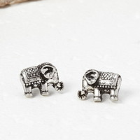Etched Elephant Studs
