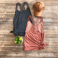Cool Down Tank in Mauve