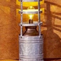 Galvanized Industrial Style LED Table Lamp Decorative Lighting Light Home Decor