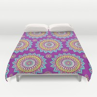 Colorful Mandalas Duvet Cover by Sarah Oelerich