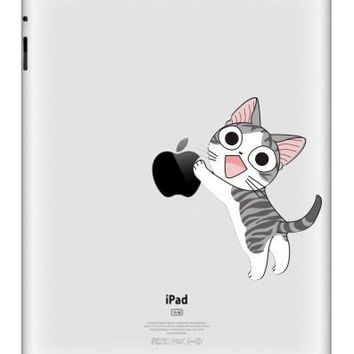 Hot Sale For iPad Vinyl Decal Tablet Partial Sticker Cat Print Dream Catcher Skin For iPad Air Mini Tablet Macbook